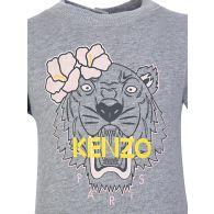 Baby KENZO Kids Grey Tiger Logo Romper Suit