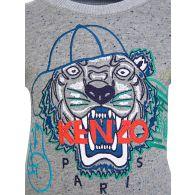 Baby KENZO Kids Grey Tiger Cap Jumper