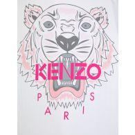 KENZO Kids White Tiger Face T-Shirt