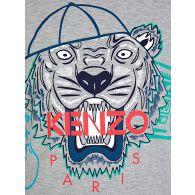 KENZO Kids Grey Tiger Cap T-Shirt