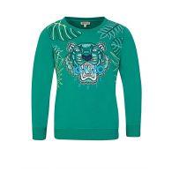 KENZO Kids Green Tiger Head Sweatshirt