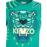 KENZO Kids Green Jungle T-Shirt