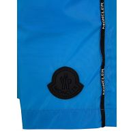 Moncler Enfant Blue Logo Swim Shorts