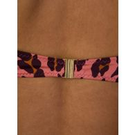 Stella McCartney Pink Leopard Print Bikini Top