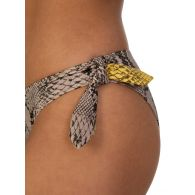 Stella McCartney Cream Snake Print Bikini Bottoms