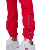 Cotton Citizen Red Milan Zip Sweatpants