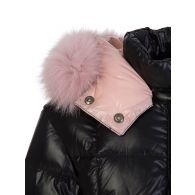 Moncler Enfant Black Parana Fur Hooded Jacket