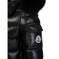 Moncler Enfant Black Bady Fur Jacket