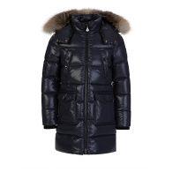 Moncler Enfant Navy Sagnes Puffer Fur Coat