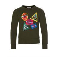 Moncler Enfant Green Logo Patch Sweatshirt