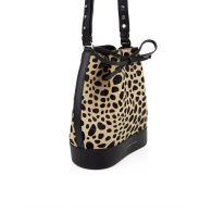 Giuseppe Zanotti Leopard Print Bucket Bag
