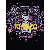 KENZO Kids Black Tiger Head Hoodie