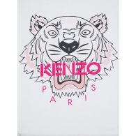 KENZO Kids White Tiger Head T-Shirt