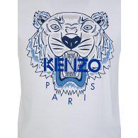 KENZO Kids White Tiger Short Sleeve T-Shirt