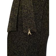 Patrizia Pepe Black Lurex Mini Dress
