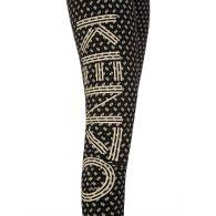 KENZO Black Logo 'Ikat' Leggings