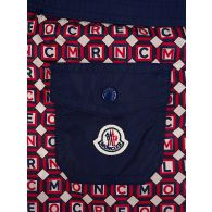 Moncler Enfant Red/Navy Printed Swim Shorts