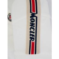 Moncler Enfant White/Blue Polo & Shorts Set