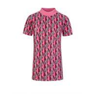 Moncler Enfant Pink 'M' Logo Dress