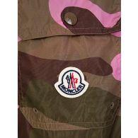 Moncler Pink Camouflage Swim Shorts
