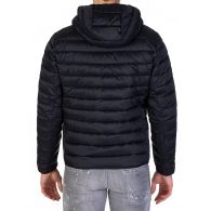 Barbour International Navy Quilted Ouston Hooded Jacket