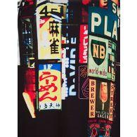 Neil Barrett Black Tokyo Print Hoodie