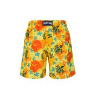 Vilebrequin Yellow 'Worldmap Dots' Swim Shorts