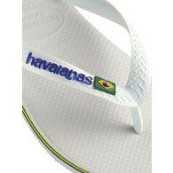 Havaianas White Brazil Signature Flip-Flops