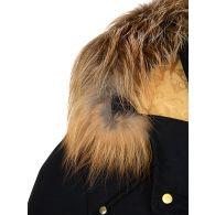 Moose Knuckles Navy Little Rapids Bomber Jacket