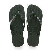 Havaianas Green Brazil Logo Flip-Flops