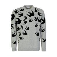 McQ Swallow Grey Swallow Sweatshirt