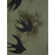 McQ Swallow Green Tie-Dye Swallows T-Shirt