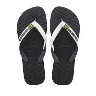Havaianas Black Brazil Mix Flip Flops