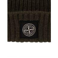 Stone Island Green Logo Beanie Hat