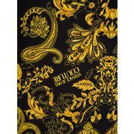 Versace Jeans Couture Black Slim-Fit Baroque Collar Shirt