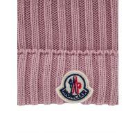 Moncler Enfant Pink Wool Bobble Hat
