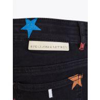 Stella McCartney Kids Black Denim Glitter Stars Jeans