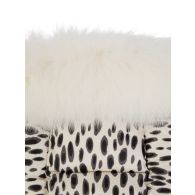 Moncler Enfant Ivory Animal-Print Puffer Jacket