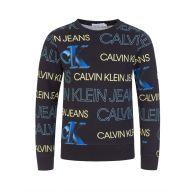 Calvin Klein Jeans Kids Black Organic Logo Sweatshirt
