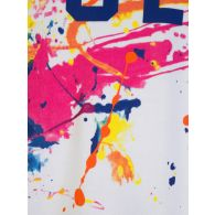 Polo Ralph Lauren Kids White Paint-Splashed Popover Hoodie