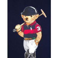 Polo Ralph Lauren Kids Navy Graphic Bear Fleece Jumper
