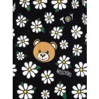 Moschino Kids White/Black Flower Bear T-Shirt & Shorts Set