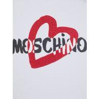 Moschino Kids White/Black Heart T-Shirt & Leggings Set