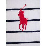 Polo Ralph Lauren Kids White Stripe T-Shirt