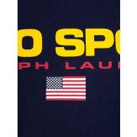 Polo Ralph Lauren Kids Navy Blue Polo Sport Logo T-Shirt