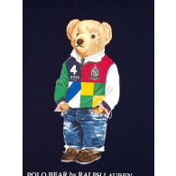 Polo Ralph Lauren Kids Navy Polo Bear Mascot T-Shirt