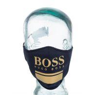 BOSS Navy/Gold Face Mask