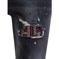 Dsquared2 Black Trash Wash Skater Jeans