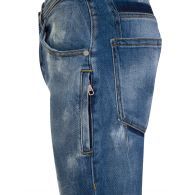 Neil Barrett Blue Extreme Distressed Jeans