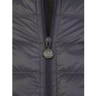 Emporio Armani EA7 Grey Hooded Packable Gilet